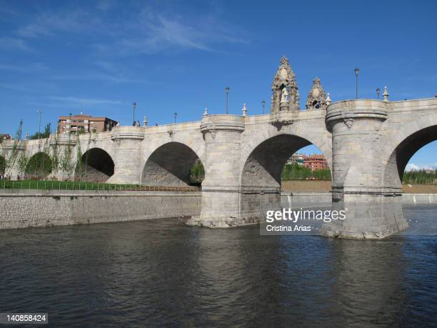 Toledo Bridge commissioned by King Philip IV was built in the midseventeenth century by the architect Jose Villarreal following the design of Juan de...