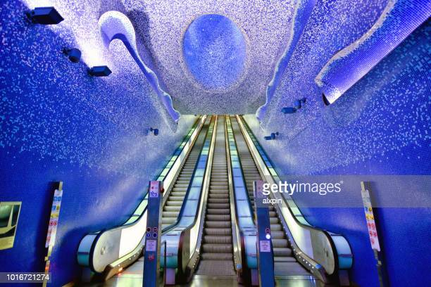 toledo metro station in naples - napoli stock pictures, royalty-free photos & images