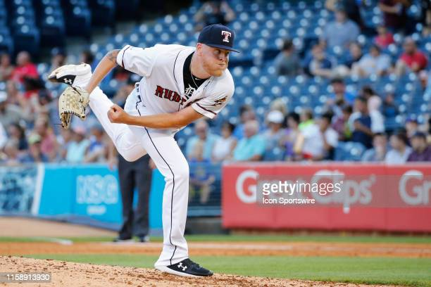 Toledo Mud Hens relief pitcher Daniel Stumpf delivers a pitch during a regular season game between the Louisville Bats and the Toledo Mud Hens on...