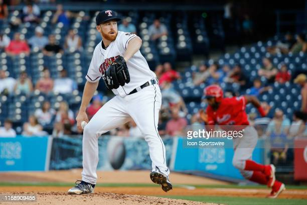 Toledo Mud Hens starting pitcher Spencer Turnbull delivers a pitch during a regular season game between the Louisville Bats and the Toledo Mud Hens...