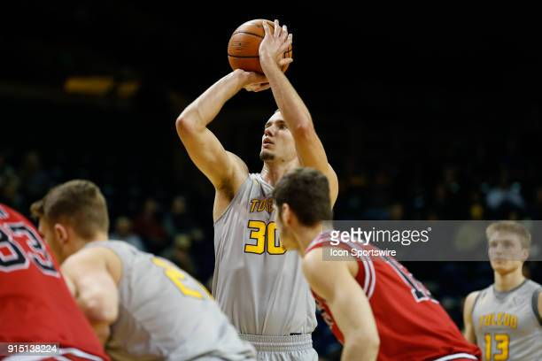 Toledo Rockets forward Luke Knapke shoots a free throw during the first half of a regular season MidAmerican Conference game between the Northern...