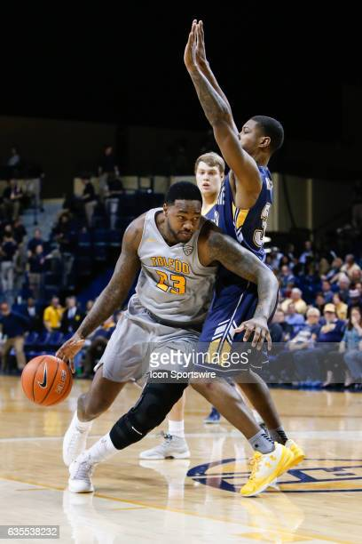 Toledo Rockets forward Steve Taylor Jr drives to the basket during a regular season basketball game between the Kent State Golden Flashes and the...