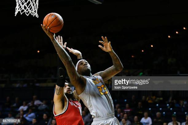 Toledo Rockets forward Steve Taylor Jr goes in for a layup during a regular season basketball game between the Ball State Cardinals and the Toledo...