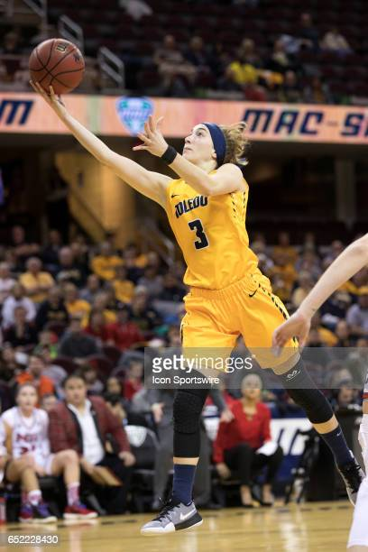 Toledo Rockets G Mariella Santucci shoots during the first quarter of the MAC womens basketball tournament championship game between the Northern...