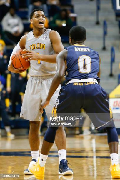 Toledo Rockets guard Jonathan Williams calls out a play during a regular season basketball game between the Kent State Golden Flashes and the Toledo...