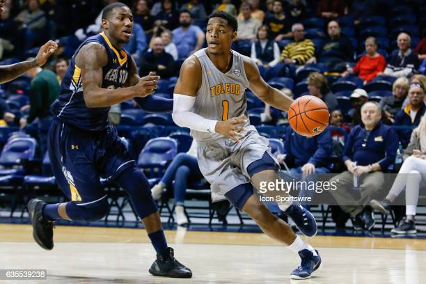 Toledo Rockets guard Jonathan Williams drives the baseline during a regular season basketball game between the Kent State Golden Flashes and the...