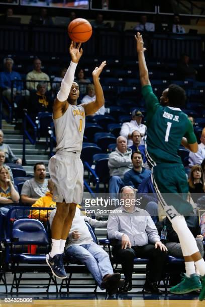 Toledo Rockets guard Jonathan Williams shoots a jump shot during a regular season basketball game between the Eastern Michigan Eagles and the Toledo...
