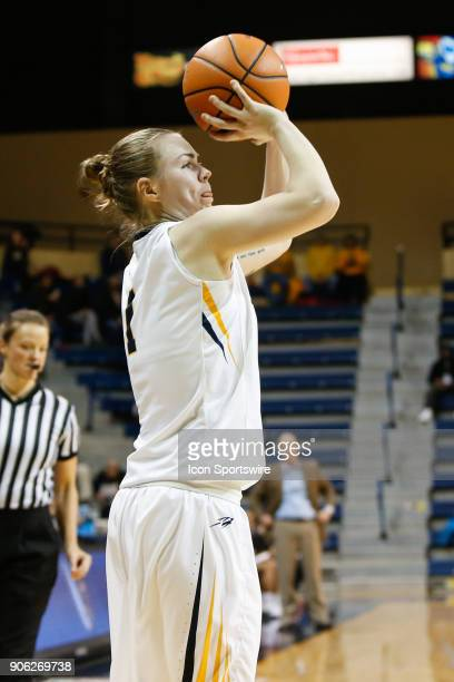 Toledo Rockets guard Sara Rokkanen shoots a jump shot during the second half of a regular season MidAmerican Conference game between the Ball State...