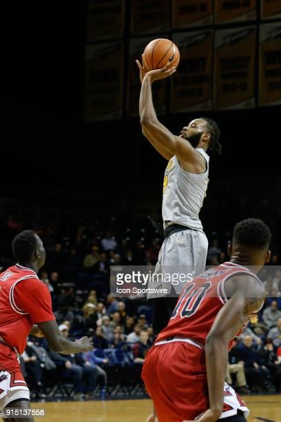 Toledo Rockets guard Tre'Shaun Fletcher shoots a jump shot during the first half of a regular season MidAmerican Conference game between the Northern...