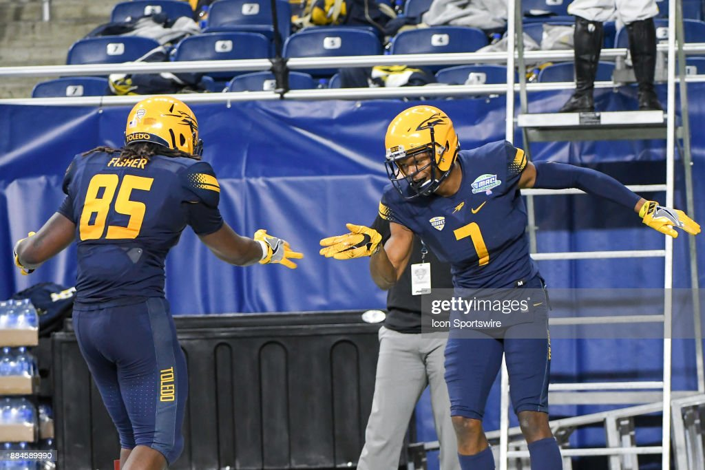 new style d123b 6e6ee Toledo Rockets wide receiver Jon'Vea Johnson celebrates his ...