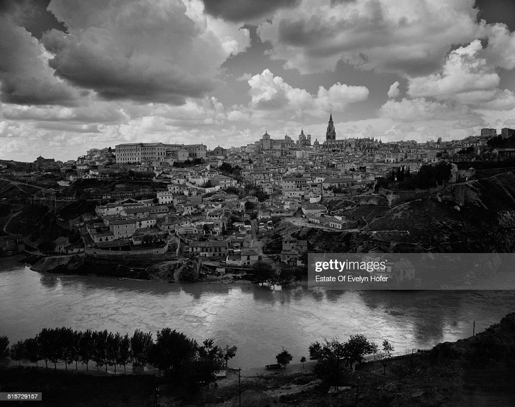 Toledo seen from across the Tagus River, Spain, 1963.