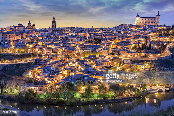 toledo with alcazar - unesco world heritage site stock pictures, royalty-free photos & images