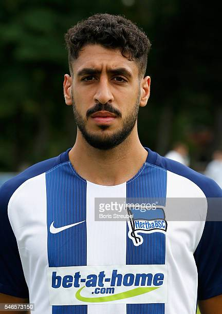 Tolga Cigerci of Hertha BSC poses during the Hertha BSC Team Presentation on July 12 2016 in Berlin Germany