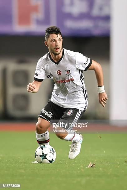 Tolgay Arslan of Besiktas in action during the International Champions Cup match between Schalke 04 and Besiktas at Zhuhai Sports Centre Stadium in...