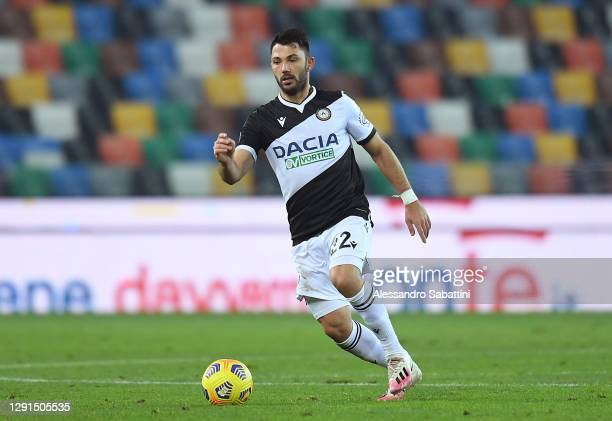 Tolgay Arslan of Udinese Calcio controls the ball during the Serie A match between Udinese Calcio and FC Crotone at Dacia Arena on December 15, 2020...