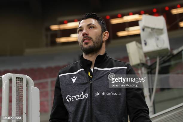 Tolgay Arslan of Udinese Calcio during the Serie A match between AC Milan and Udinese Calcio at Stadio Giuseppe Meazza on March 03, 2021 in Milan,...