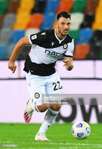 Tolgay Arslan of Udinese Calcio in action during the Serie A match between Udinese Calcio and AS Roma at Dacia Arena on October 03, 2020 in Udine,...