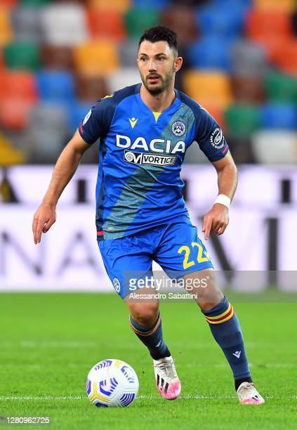 Tolgay Arslan of Udinese Calcio in action during the Serie A match between Udinese Calcio and Parma Calcio at Dacia Arena on October 18, 2020 in...