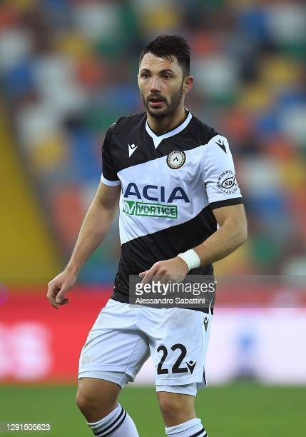 Tolgay Arslan of Udinese Calcio looks on during the Serie A match between Udinese Calcio and FC Crotone at Dacia Arena on December 15, 2020 in Udine,...