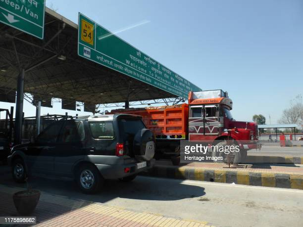 Toll booth on road from Amritsar