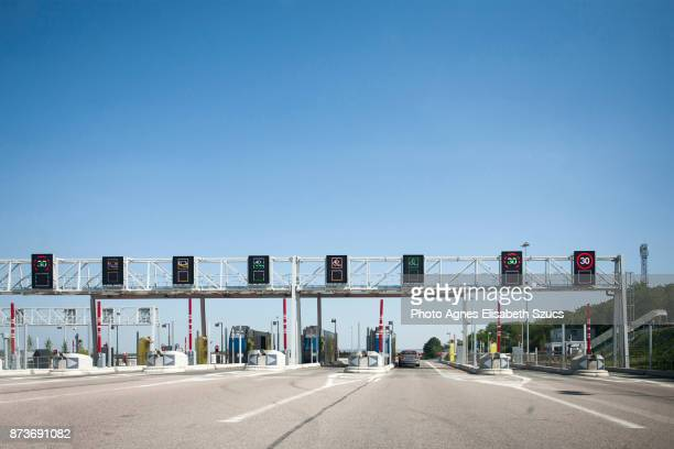 Toll booth Péage in France