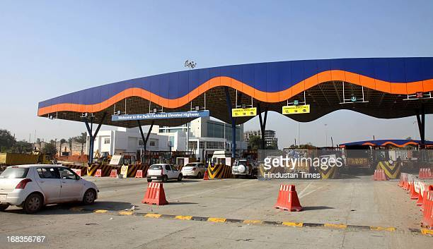 Toll plaza at Delhi Faridabad elevated highway on October 28 2010 in Faridabad India