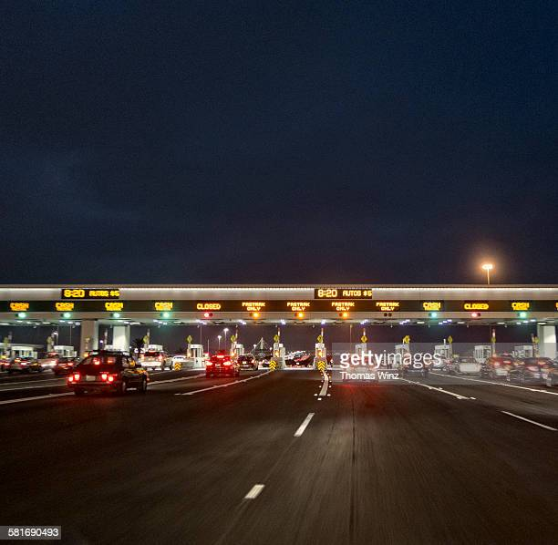 Toll Plaza at night