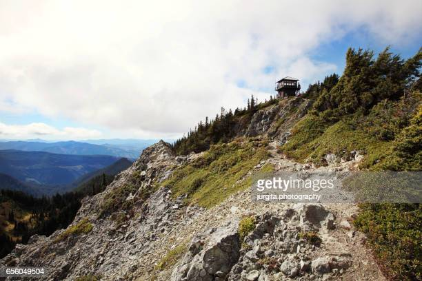 tolmie peak, mt. rainier - lookout tower stock pictures, royalty-free photos & images