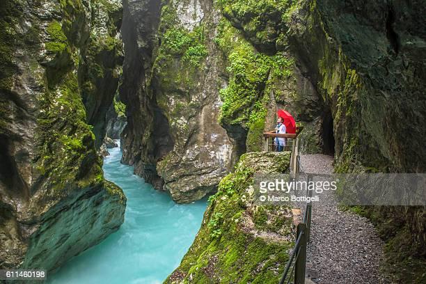 Tolmin gorges, Triglav National Park, Slovenia, East Europe.