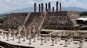 Toltec temple ruins in Tula, Mexico