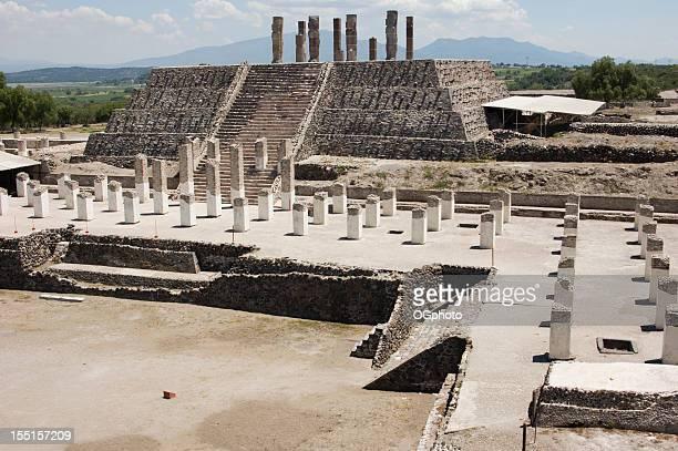 tolteca as ruínas do templo de tula, méxico - ogphoto - fotografias e filmes do acervo