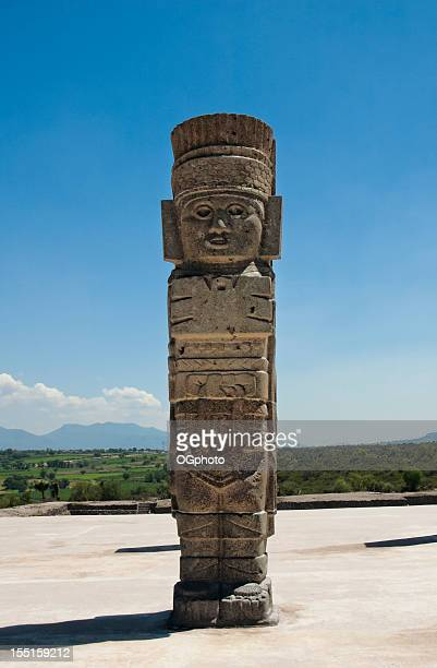 toltec temple ruins in tula, mexico - ogphoto stock pictures, royalty-free photos & images