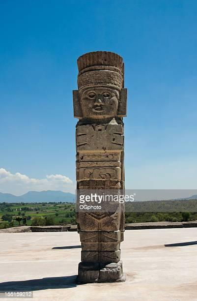 Toltekische Kultur Tempel und Ruinen in Tula, Mexiko
