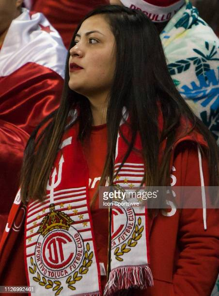 Toluca FC fan looks on the the pitch prior to the Round of 16 CONCACAF Champions League match between Sporting Kansas City and CD Toluca on Thursday...