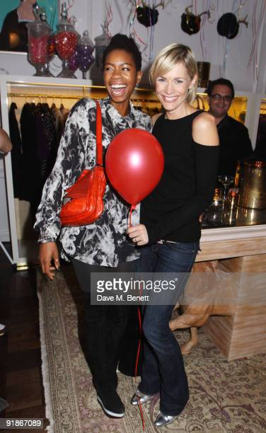 Tolula Adeyemi and Jenni Falconer attend the Juicy Couture VIP launch party on October 13 2009 in London England