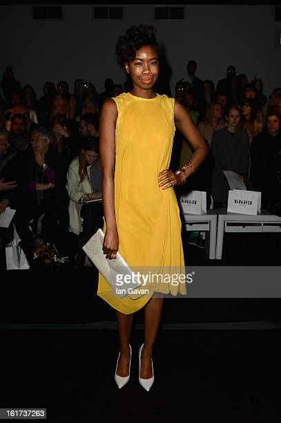 Tolula Adeyemi attends the Bora Aksu show during London Fashion Week Fall/Winter 2013/14 at Somerset House on February 15, 2013 in London, England.
