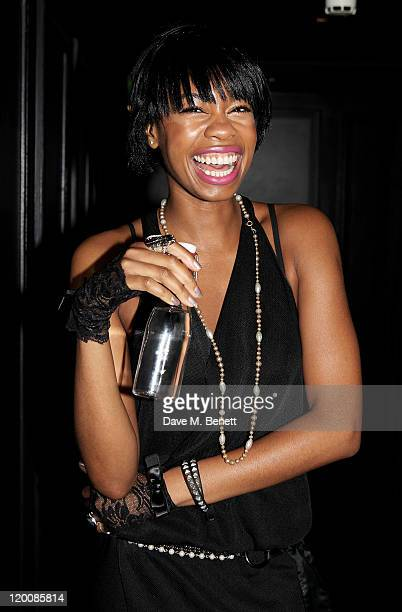 Tolula Adeyemi attends the relaunch of 'Bungalow 8' club at St Martins Lane Hotel on July 29 2011 in London England