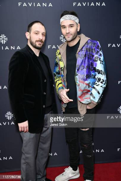Tom Abbate and Jehry Robinson attend Faviana's Annual Oscars Red Carpet Viewing Party on February 24 2019 at 75 Wall St in New York City