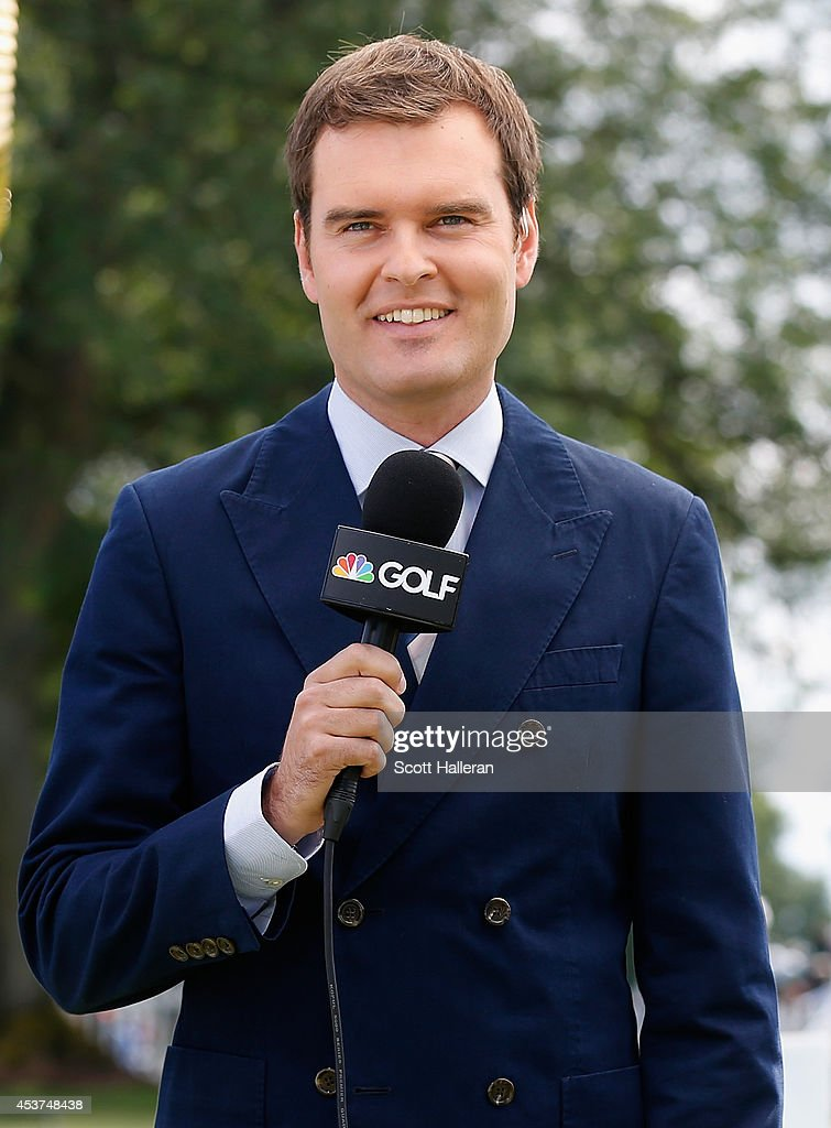 Tom Abbott reports for the Golf Channel from the practice ground ...