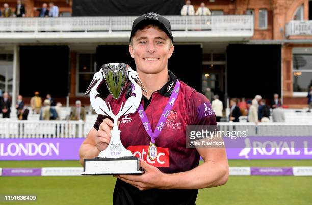 Tom Abell, captain of Somerset with the Royal London One Day Cup Trophy during the Royal London One Day Cup Final match between Somerset and...