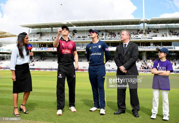 Tom Abell of Somerset and Sam Northeast of Hampshire at the toss during the Royal London One Day Cup Final match between Somerset and Hampshire at...