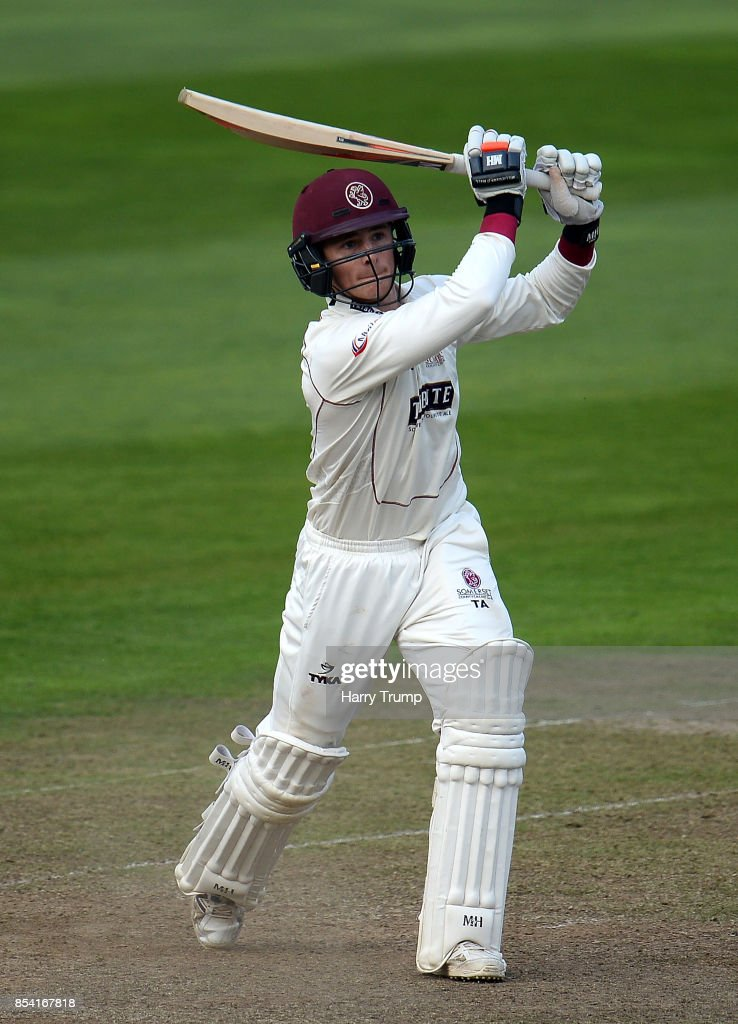 Tom Abell of Somerset bats during Day Two of the Specsavers County Championship Division One match between Somerset and Middlesex at The Cooper Associates County Ground on September 26, 2017 in Taunton, England.