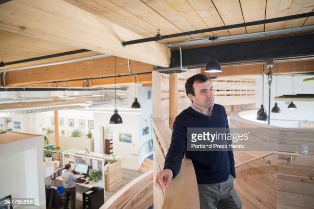 Tom Abello the director of external affairs at the Nature Conservancy in the new lofted space at their office in Fort Andross Abello helped...