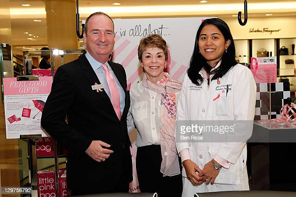 Tom Abrams General Manager Bloomindale's Jane Jerden and Dr Mylin Torres Radiation Oncologist Winship Cancer Institute of Emory University attend the...