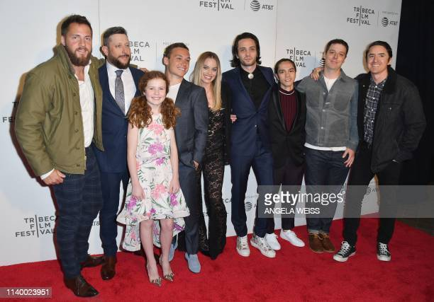 Tom Ackerley Brad Feinstein Darby Camp Finn Cole Margot Robbie Miles JorisPeyrafitte Stephen Dinh Joey McNamara and Brian KavanaughJones attend the...