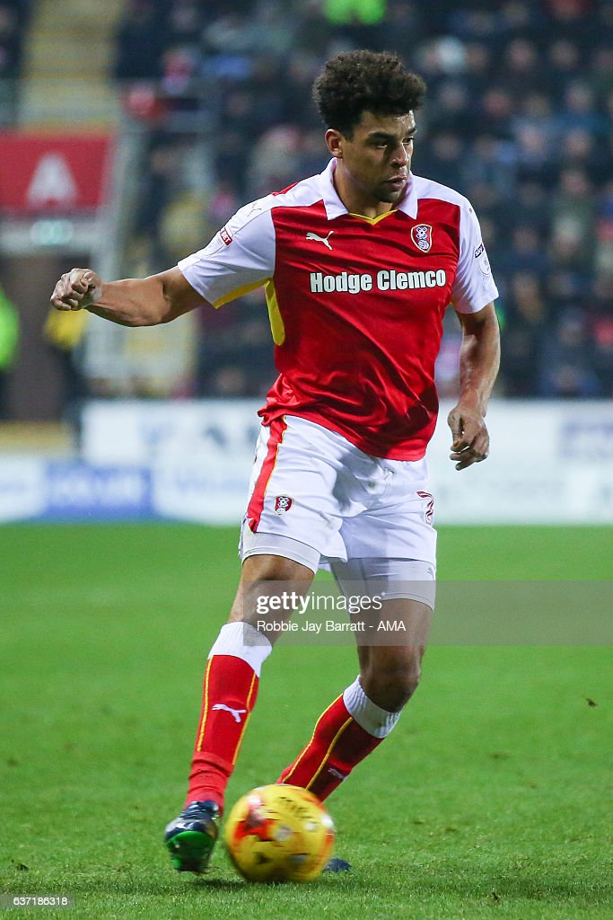 Tom Adeyemi of Rotherham United during the Sky Bet Championship match between Rotherham United and Burton Albion at The New York Stadium on December 29, 2016 in Rotherham, England.