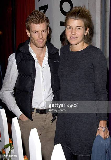 Tom Aikens Amber Nuttall Attend The Party For The Launch Of Tom Parker Bowles' New Book 'The Year Of Eating Dangerously' At London'S Kensington Place