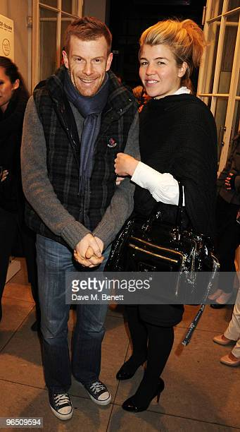 Tom Aikens and Amber Nuttall attend the afterparty following the screening of 'Food Inc' at the Stella McCartney Store on February 8 2010 in London...