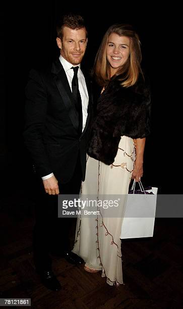 Tom Aikens and Amber Nuttall attend the British Fashion Awards at the Lawrence Hall on November 27 2007 in London England