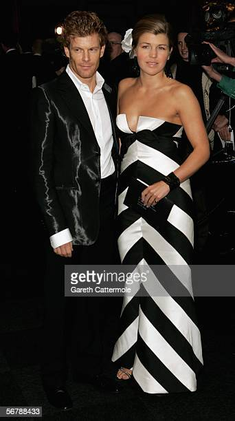 Tom Aikens and Amber Nuttall attend the Conservative Party Black White Ball at Old Billingsgate Market on February 8 2006 in London England The...